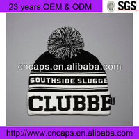 2013 Fashion 3D Letters Beanie Hats With Top Ball