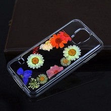 Handmade Real Daisy Pressed Dry Flower Phone Case accept wholesale For SAM S5