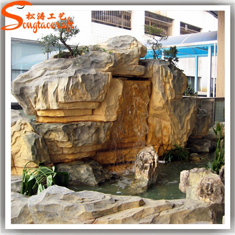 2015 Nearly Natural High Quality Artificial Plastic Waterfall Rocks For Garden Buy Artificial
