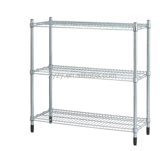 Zinc Wire Shelving Rack with 3 Layers