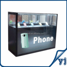 Cell phone display case, glass counter for display mobile