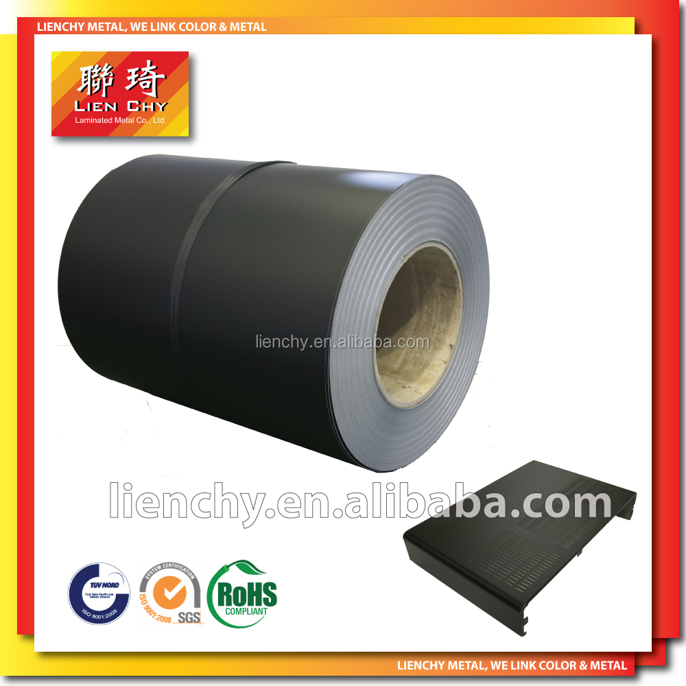 Fashionable Black Sands PVC Film VCM Laminated Steel sheet for 3C Products Steel Cases/ housings/or back panels