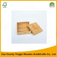 2016 Whosale Cheap Handcraft Unfinished Small Bamboo Gift Box
