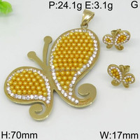 Captivating set yellow rhinestone butterfly gold diamond sets providers