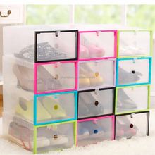 new products Thick Plastic Drawer Shoes Storage Free Combination stackable Box