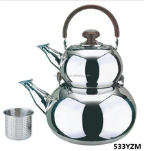 1L and 3 L double whistling decorative kettle stainless steel water kettle tea kettle