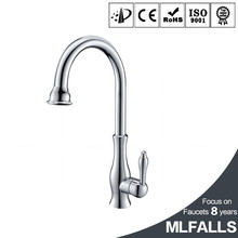 Kitchen Faucet Single Handle Bar Sink Faucet Single Hole Hot Cold Water Brass Modern Tap, Polished Chrome