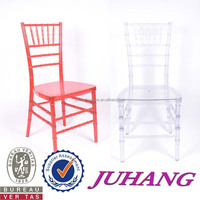 colorful strong resin blue acrylic plastic chiavari chair