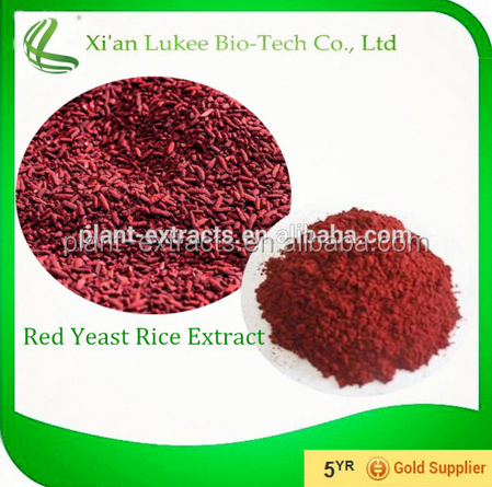 Red Rice Yeast Extract, latin name: Monascus Purpureus Went, Active Ingredient: Lovastatin