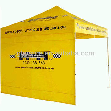 professional factory-produced aluminum frame folding shades trade tent