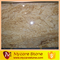 polished Colonial Gold Granite Slab