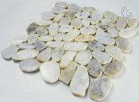 Natural stone white stone tile pebble mosaic