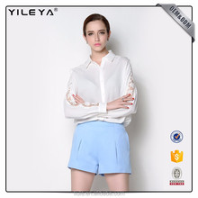 Different types of women casual blouse design,latest fashion long sleeve blouse 2017