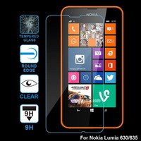 10sets/lot 0.3mm tempered glass protector for nokia lumia 630/635, with retail package