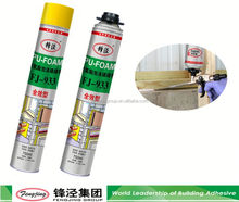 Non-toxic 750ml white polyurethane waterproof foam sealant with fast delivery