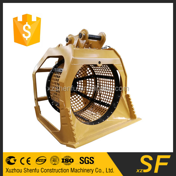 SF Long durability screen bucket excavator 360 degree rotating screener bucket on hot sale