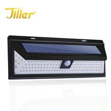 118/120 Led Solar Lights Outdoor Wireless Waterproof Motion Sensor Lights Wide Angle Solar Wall Security Lights