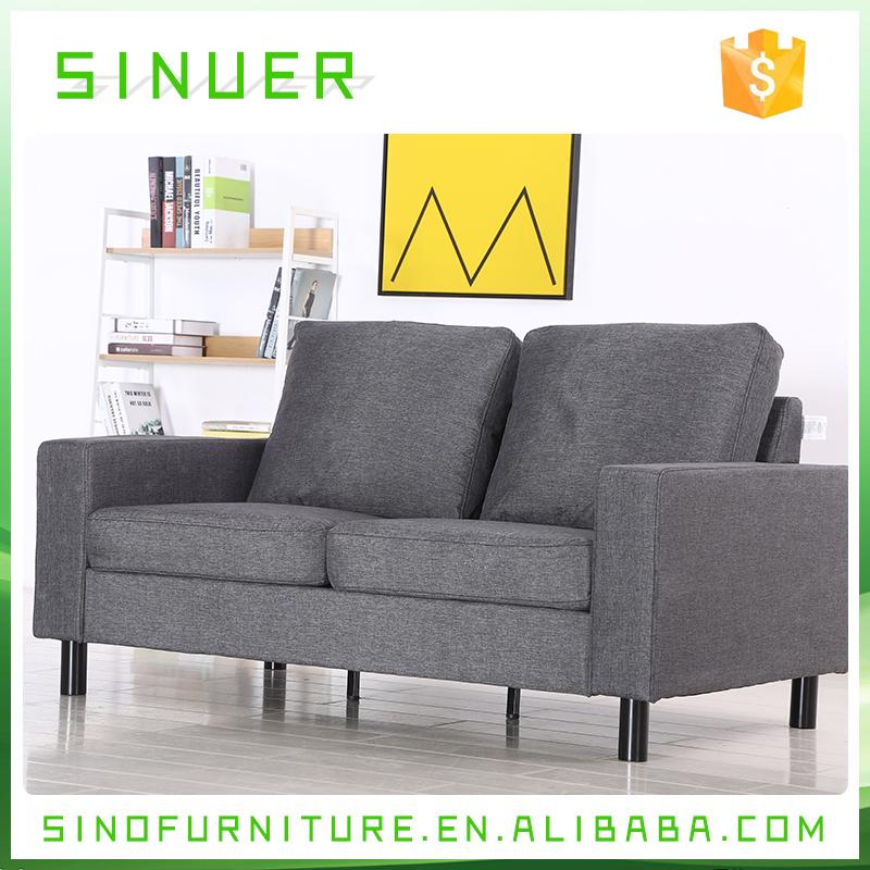 Europa Elegante design semplice due posti divano in tessuto mobili ...
