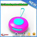 Import top electronic gadgets mini round rechargeable portable speaker with self timer