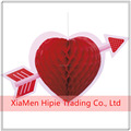 Valentine's Day Heart Imagine Paper Honeycomb Centerpiece Decorations With Colored Printing