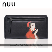 convenient long style printed pattern money card holeder wallet