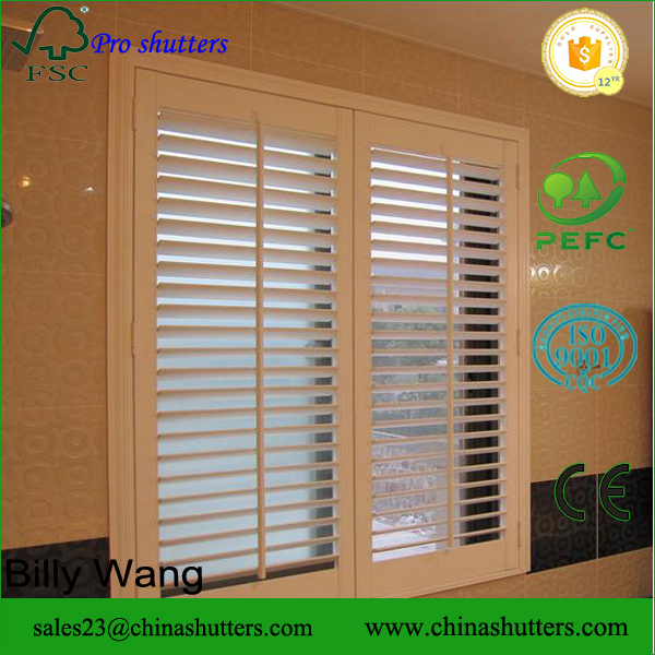 2016 high quality custom solid window shutters interior sliding plantation shutter doors