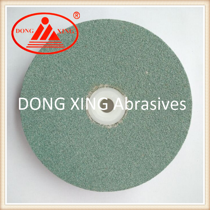 "6"" Green Silicon Carbide Gemstone Grinding Wheel"