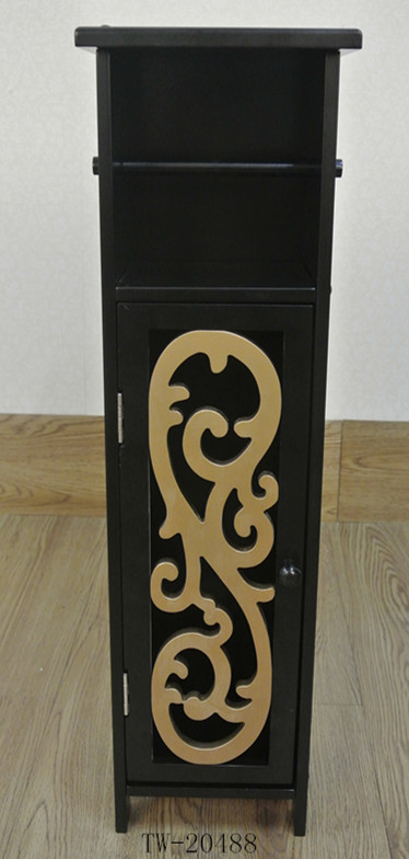 New arrival cheap price die cut free standing wooden toilet paper holder
