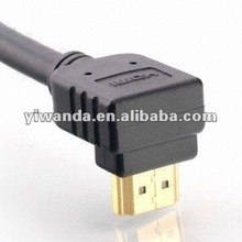 24K Gold c7 right angle hdmi cable male