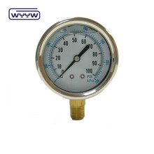 100mm bourdon tube manometer