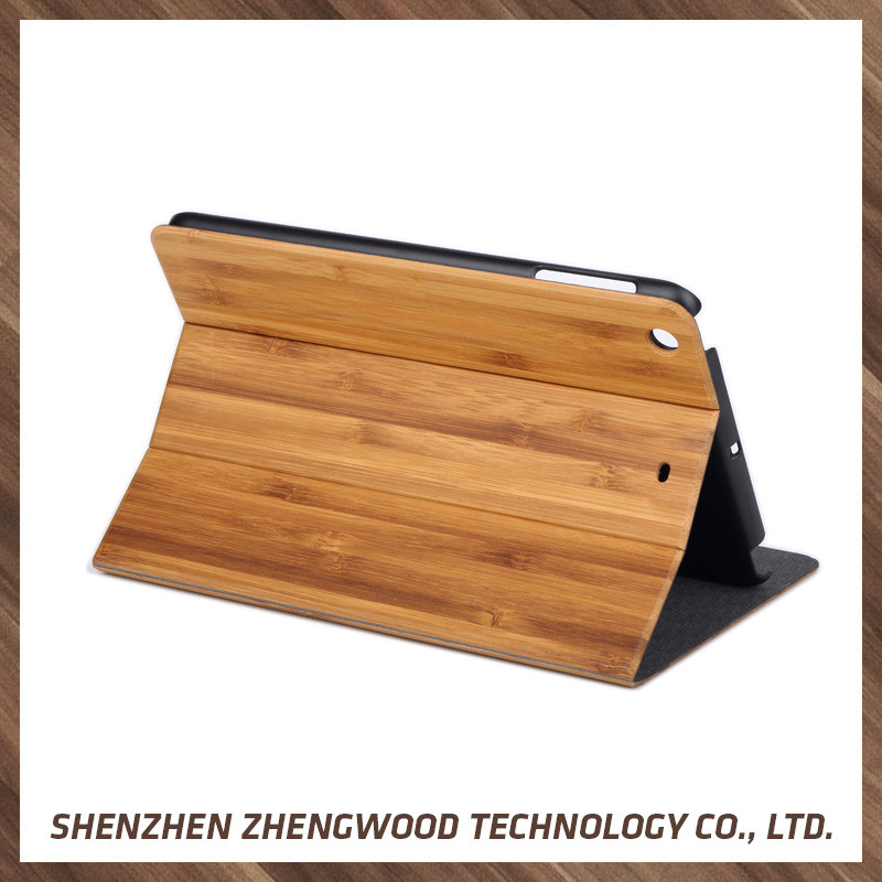 Best price of bamboo wood phone case mobile bamboo back cover for ipad mini