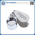Mini 40x25mm All Metal Magnifier LED Currency Delecting Diamond identifying Portable Tool