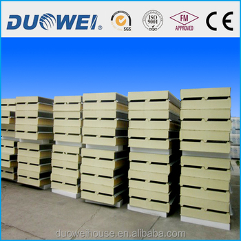 PU sandwich panel for steel structure building
