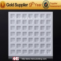 Fire rated&sound-absorbing gypsum board/ceiling tiles/3d wall panel made in China
