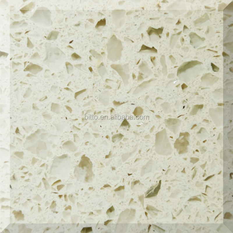 China cream artificial stone quartz price
