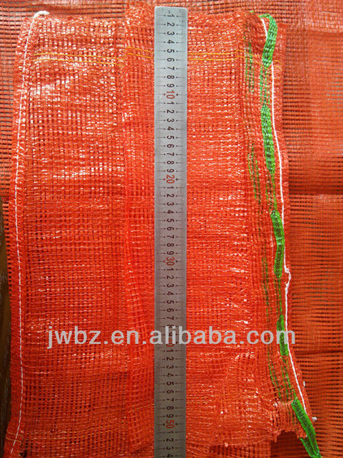 Mesh bag wholesale 50*80CM size <strong>orange</strong> red color