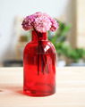 Beautiful colored decorative glass vase clear glass wide mouth vase