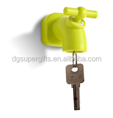 Hot sale 3D tap shape water faucet magnet key holders,custom magnetic key holders