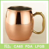 20oz copper moscow mule mug stainless steel coffee cup