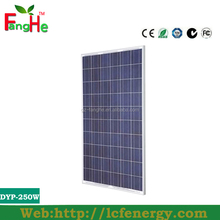 New listing monocrystalline photovoltaic cell solar panels 250 watt for solar system