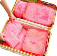 6Pcs/set Travel Bag Clothing Organize Bag Packing Cubes