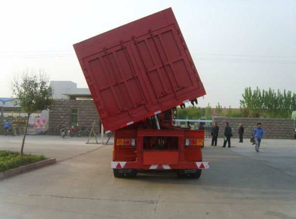 widely used 3 axle side dump semi trailer for sale