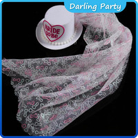 hot selling white bride to be mini top hat and veil for wedding party