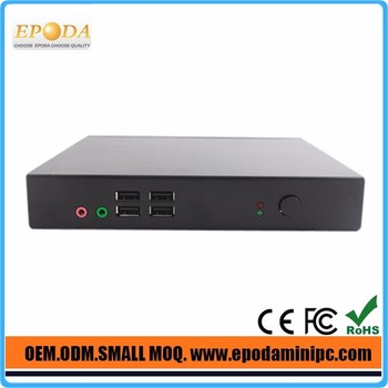 Intel Mini Desktop PC Computer dual nic Fanless PC with Celeron Dual Core c1037u 1.8Ghz for HTPC Office Hotel Project