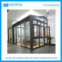 customized Aluminum frame sun glass room/summer glass room for more than 10 years