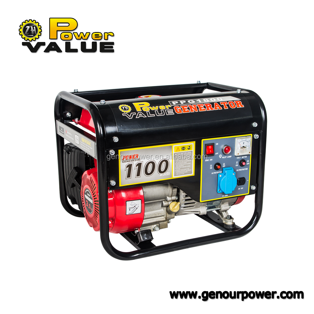 Gasoline LPG Engine Motor Four Stroke 1KVA 1KW Portable Gasoline Gas Power Generators family use