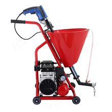 Plaster sprayer machine mini hand push putty sprayer with air compressor