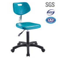 High quality PU seat height adjustable laboratory stool chair R72-03C-BU