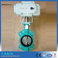 wafer rubber seat butterfly valve with electric actuator