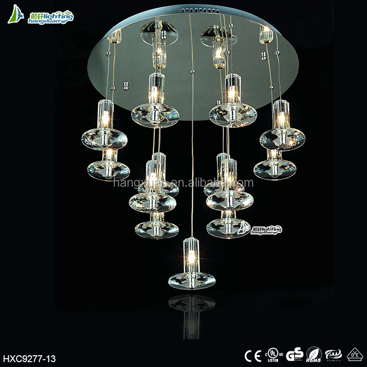 Round stainless steel base modern ceiling lamp for decor HXC9277-13